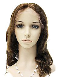 Lace Front 100% Brasil Cabelo Remy peruca onda do corpo Longa