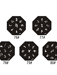 Peony Style Nail Art Stamping Image Template Plate