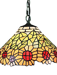 60W Tiffany Pendent Light with 1 Light in Sunflower Design