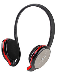 Bluetooth V2.1EDR On-ear Stereo Voice Dial Micro SD Support Headphone(Black and Red)