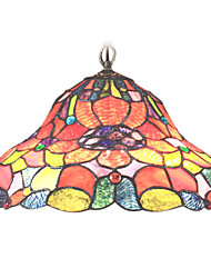 Tiffany Pendant Lights with 2 Lights in Floral Pattern Shade