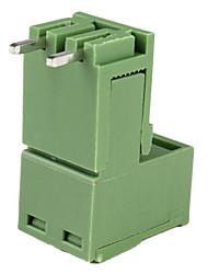 2-pin bloc courbe borne à vis connecteurs-vert (20 pièces pack)