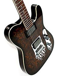 Derulo - guitarra telecaster profissional mogno elétrica com saco de correia / / picks / cabo / barra whammy