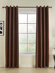 (dois painéis) tradicional cortina de poupança de energia sólida
