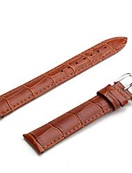 Unisex klockarmband av äkta läder (18 mm, brun)