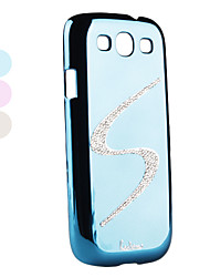 S Design Rhinestone Style Mirror Surface Hard Case for Samsung Galaxy S3 I9300 (Assorted Colors)
