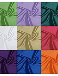 98% poliéster / 2% spandex tejido elástico satinado por el patio (muchos colores)