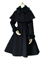 Long Sleeve Velvet Aristocrat Lolita Coat with Shawl