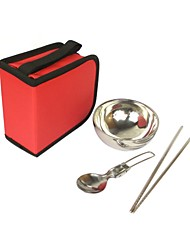 Outdoor 3-Units Cookware Set (Pouch Color Assorted)