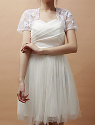 Party/Evening Lace Coats/Jackets Short Sleeve Wedding  Wraps