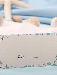 Place Card - Blue Flower Print (Set of 12)