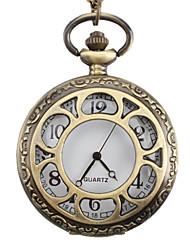 унисекс сплава аналоговые кварцевые карманные часы (бронза)