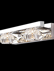 Stylish Crystal and Metal Wall Lights with 2 Lights in Diamond Design