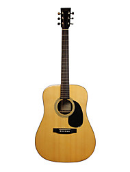 "Recording King - (RD-07) 41"" Solid Citka Spruce Dreadnought Acoustic Guitar with Gig Bag/Strap/Picks/Tuner"