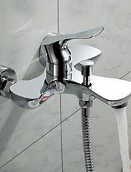 Sprinkle® - von lightinthebox - zeitgenössische massivem Messing zwei Löcher Badewanne Wasserhahn verchromt