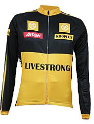 Kooplus Quick Dry Männer Langarmshirt Radtrikot (Yellow)