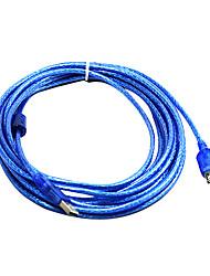 100% cuivre 248 usb2.0 h à Câble d'extension af avec boucle magnétique (5 m)