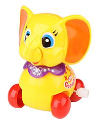 éducatifs souriants petits jouets mécaniques éléphant pour les enfants (jaune)
