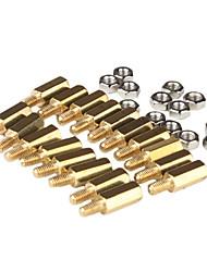 m3 x 10mm et 6 bornes de cuivre bricolage post-obligatoires (50 pièces, d'or)
