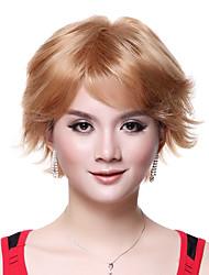 Capless Top Quality 100% Human Hair Super Fashion Blonde Short Wig