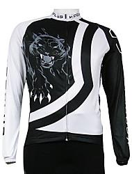 Kooplus Quick Dry Men's Long Sleeve Cycling Jersey (Tiger)