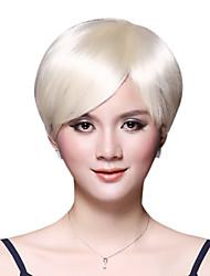 Capless Short Bob 100% Human Hair Light Brown Wig