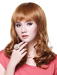 Capless Top Kwaliteit 100% Human Hair Fashion Golden Blonde Pruik met lang