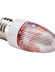 E27 0.5W 30-45lm Red Light LED Nachttischlampe Candle Bulb (110-220V)