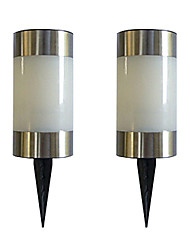Solare del LED luce colorata Garden Path Marker Mini Bollard Lampada Patio (2-pack)