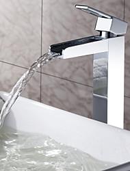 Sprinkle® - de LightInTheBox - latón macizo cascada grifo del fregadero cuarto de baño cromado (alto)