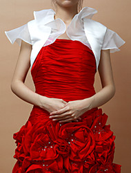 Short Sleeves Satin Special Occasion Evening Jacket/ Wedding Wrap With Flowers (More Colors) Bolero Shrug