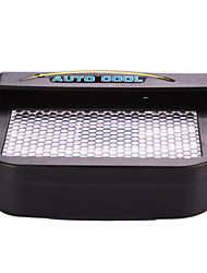 Solar Powered Car Auto Cool Air Vent Cooling Fan - Negro