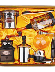 Coffee Series Boxed Gift (Seal & Siphon Pot, Grinder, Bubble Milk Device)