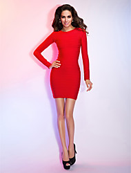 TS Couture Cocktail Party / Holiday Dress - Ruby Petite Sheath/Column Jewel Short/Mini Rayon