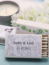 Wedding Décor Personalized Matchboxes - Elegant Print (Set of 12)