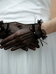 Gloves Beautiful Spandex Fishnet Fingertips Wrist Length Evening/Party Gloves