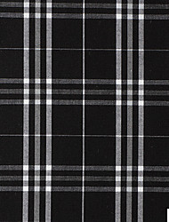 100% Cotton Woven Yarn-Dyed Plain Plaids By The Yard