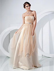 TS Couture® Prom / Formal Evening Dress - Vintage Inspired / Elegant Plus Size / Petite A-line / Princess Strapless Floor-length Tulle withAppliques