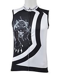 Kooplus 100% Polyester Cycling Vest (Black Leopard)