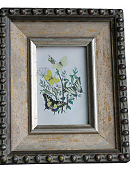"6 ""Antique Floral Picture Frame"