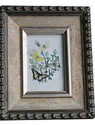 "6""Antique Floral Picture Frame"