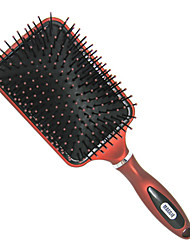 Air Cushion Massage Wide Teeth Paddle Hair Brush (Red and Black)