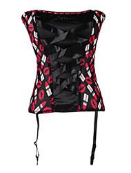 Nylon / Spandex bretelles réglables Dentelle Shapewear Corsets-up