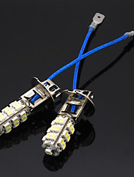 2 x H3 3528 SMD 25 LED de coches Niebla Head Lamp Light