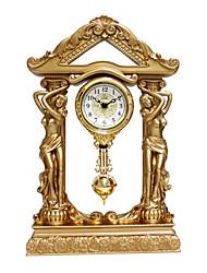 """Antique Floral Table Clock 16"""""""