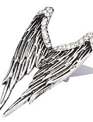 Asa Silver Ring Placa do Anjo