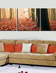 """12 """"-24"""" Modern Style Orologio da parete in tela Foresta 3pcs"""