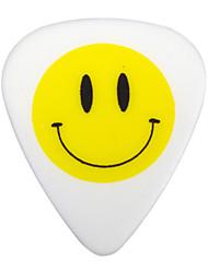 NNPICK - (CSA-16) Composite Plastic Standard Shape Guitar/Bass Picks/6-pack (Smiling Face-Design)