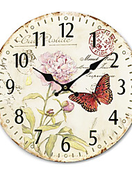 Country Floral&Animal Wall Clock