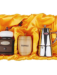 Coffee Series Boxed Gift (Moka & Seal Pot, Grinder)T-302